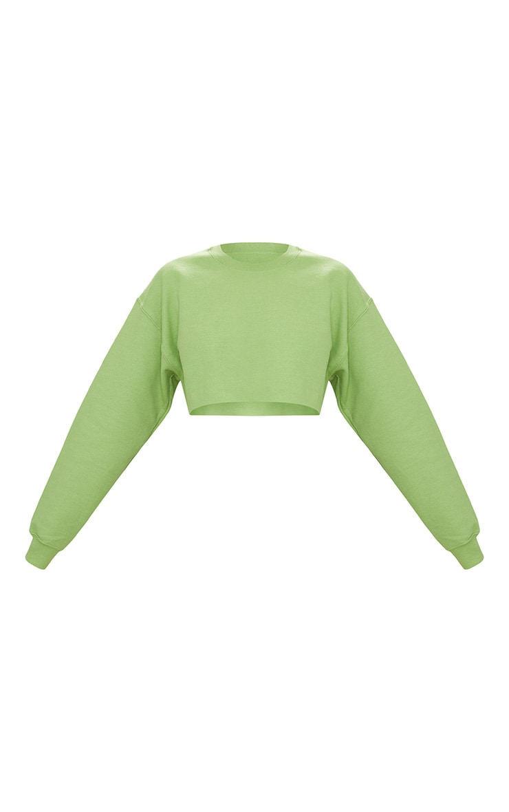 Green Ultimate Cropped Sweater 3