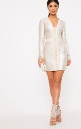 c5788114 Valencia Nude Premium Embellished Sequin Bodycon Dress image 5