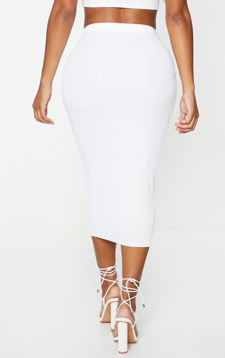 Shape Cream Bandage High Waist Midi Skirt 3