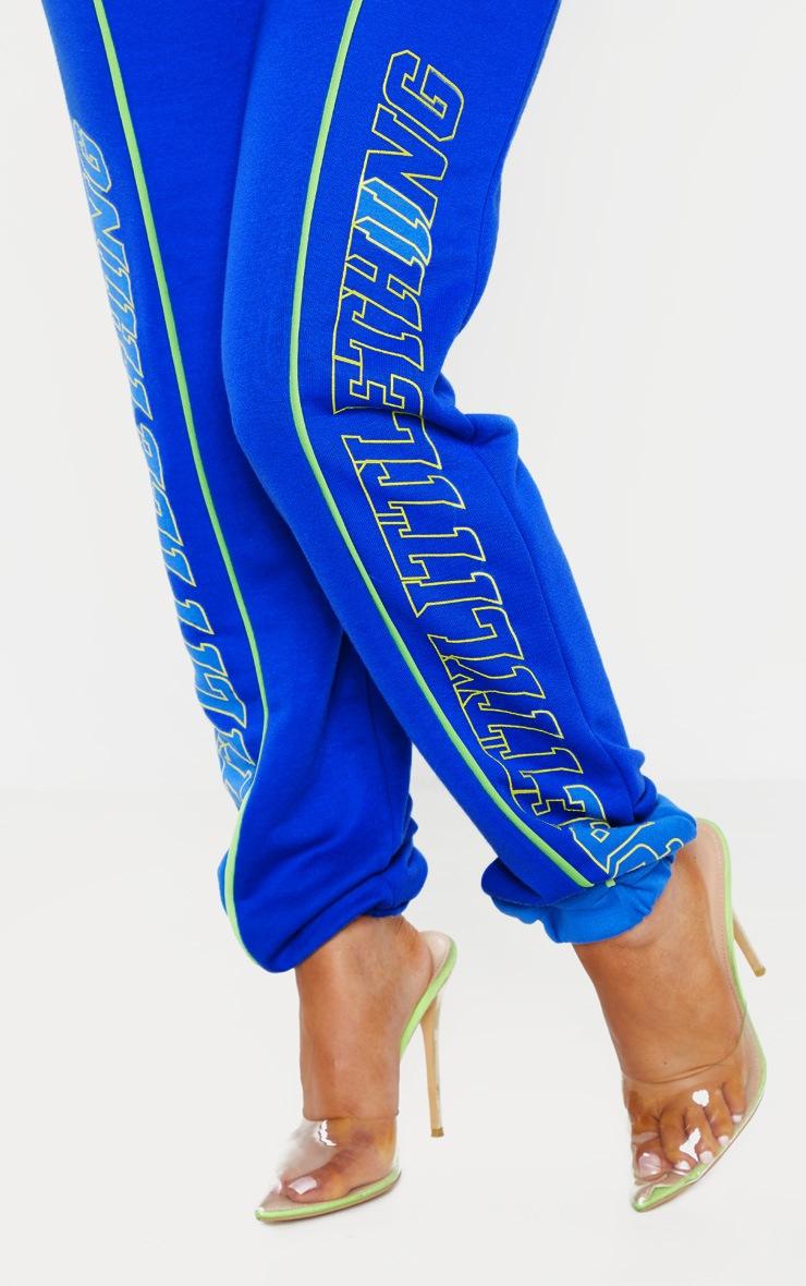 PRETTYLITTLETHING Petite Cobalt Printed Track Pants 4