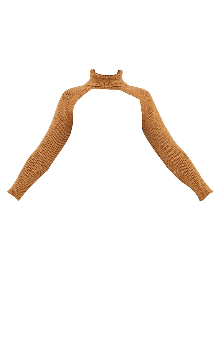 Camel Super Crop Knitted Sleeves 5