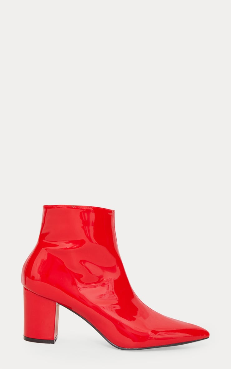 Red Point Block Heel Ankle Boot 4