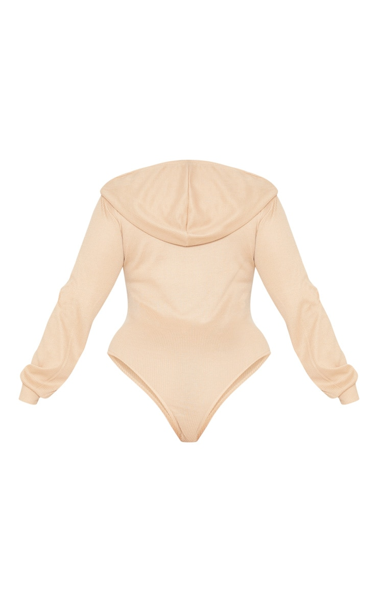 Plus Stone Ribbed Hooded Bodysuit 4