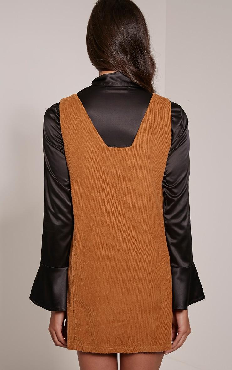 Staci Tan Cord Pinafore Dress 2