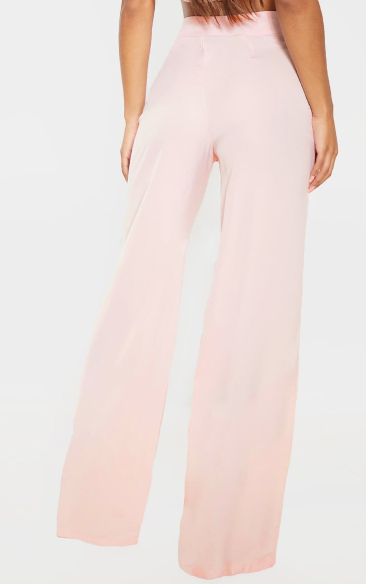 Elnie Baby Pink Wide Leg Suit Trousers 4