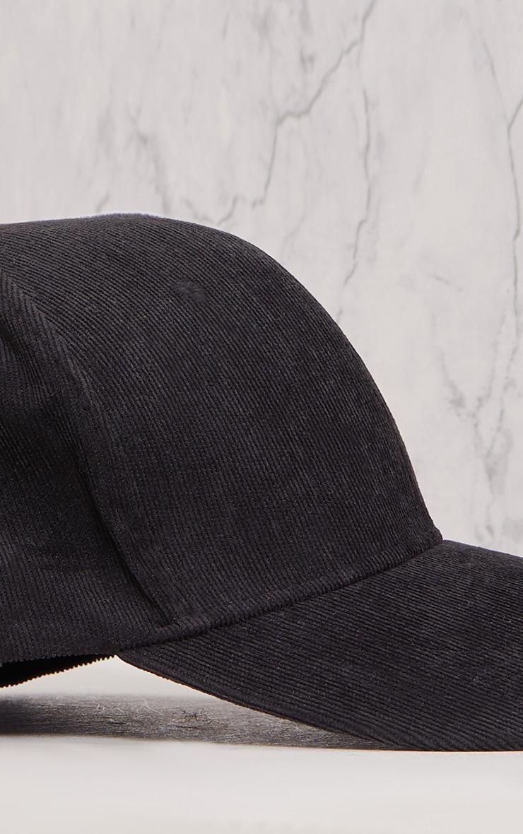 Lea Black Corduroy Cap 6