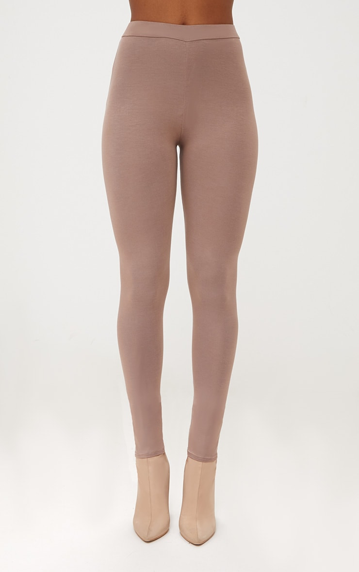 Taupe Ultimate Jersey High Waisted Leggings 2