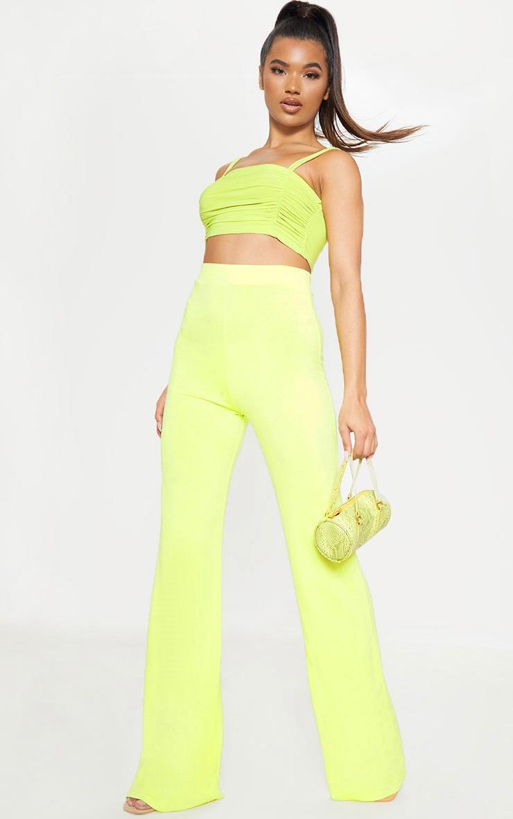 Lime Basic Wide Leg Trouser 1