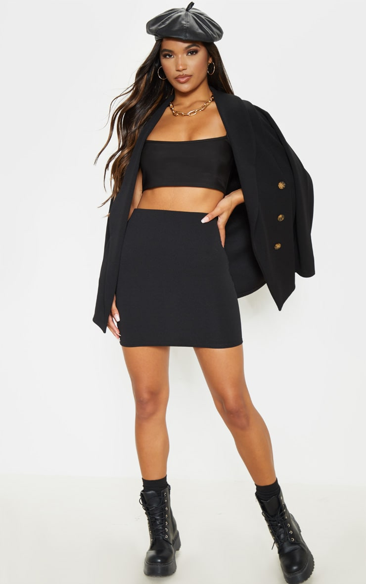 Mini-jupe noire style tailleur 5
