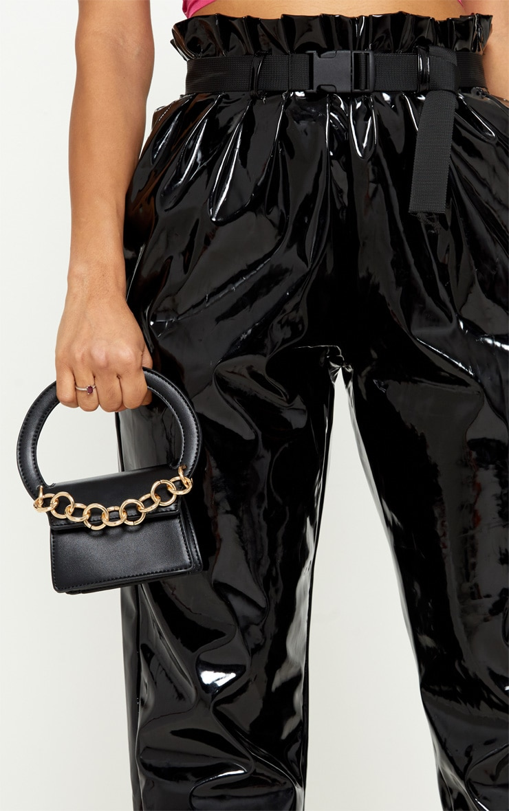 1bfe173e455a Black Chain Trim Micro Mini Bag image 1