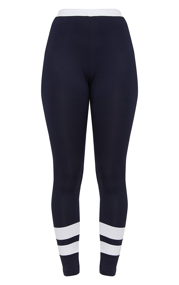 Navy Contrast Leggings 3