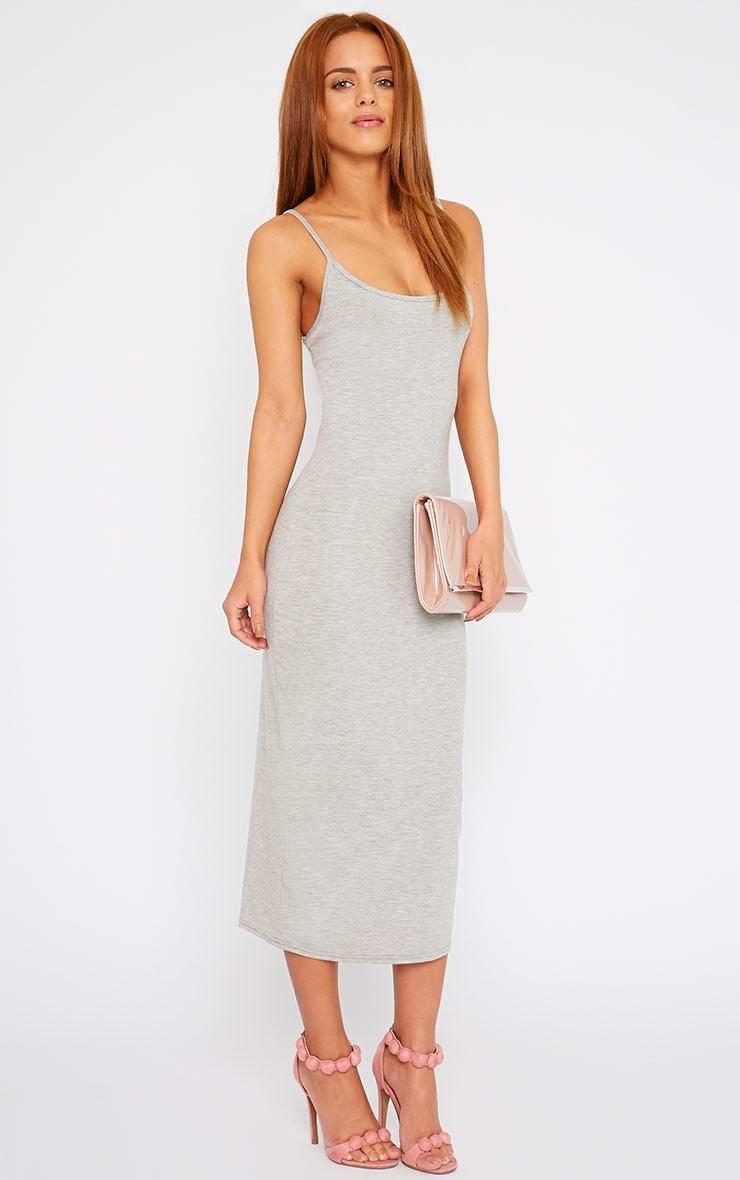 Basic Grey Midi Vest Dress 3