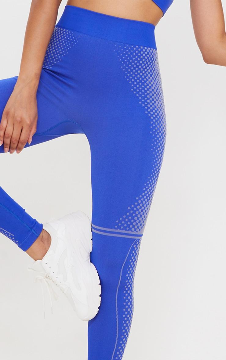 Cobalt Contour Dot Seamless Leggings 4