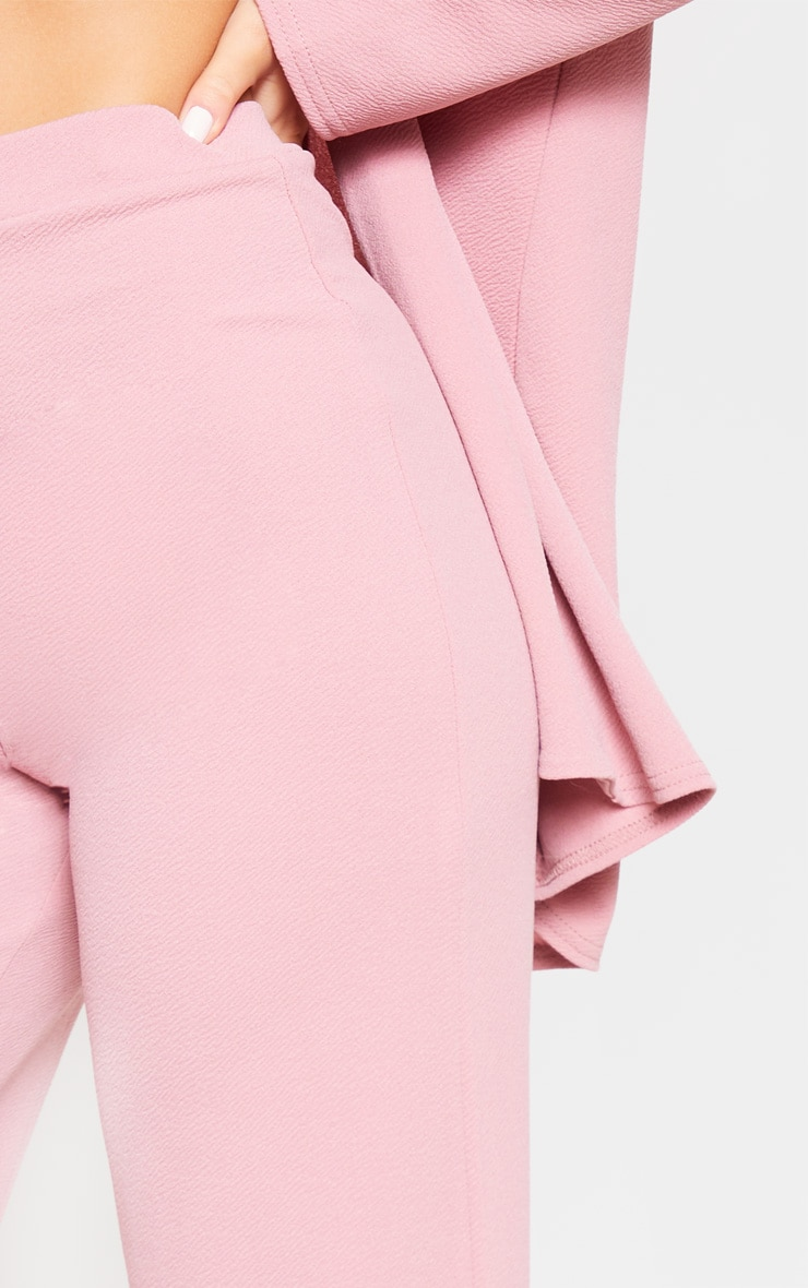 Pink Wide Leg Suit Pants 6