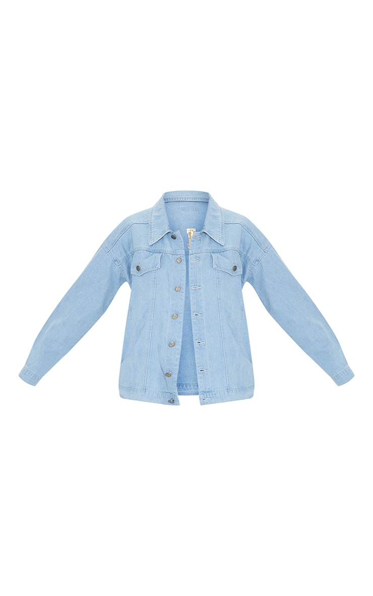 Mid Blue Wash Pride Sequin Embellished Denim Jacket 5