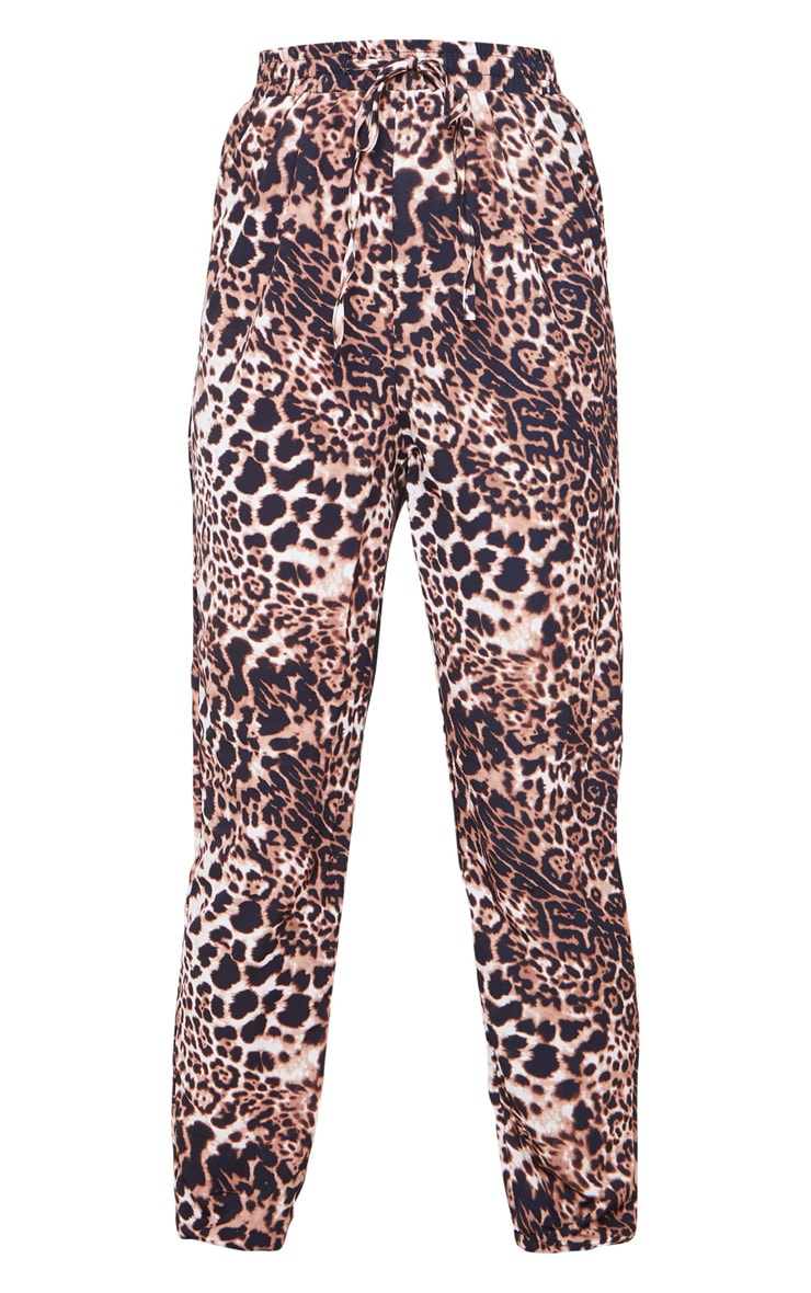 Brown Leopard Casual Pants 3