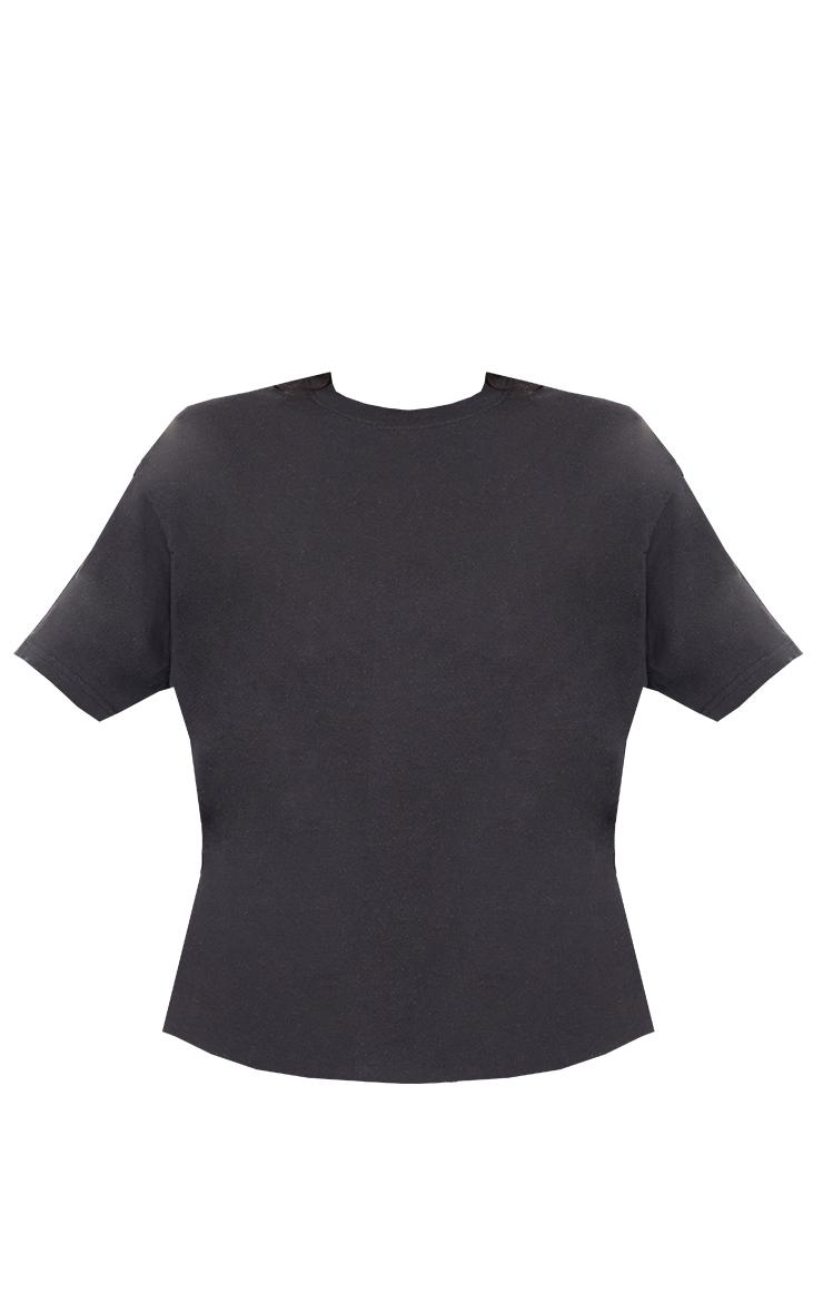 Tall - Tee-shirt noir oversize style boyfriend 5