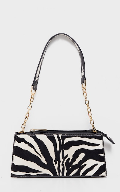Zebra Chain Handle 90s Shoulder Bag