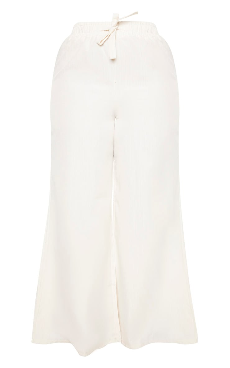 Plus Stone Woven Wide Leg Tie Waist Pants  3