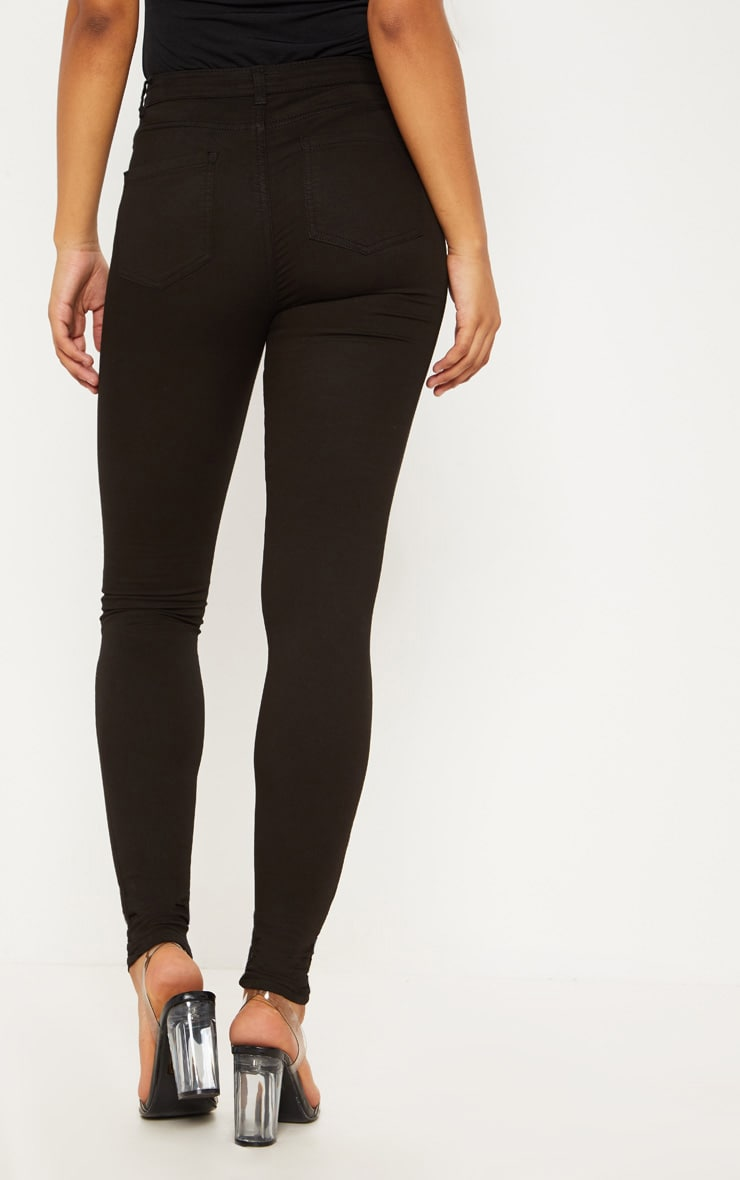 Tall Black Super Stretch Skinny Jeans  4