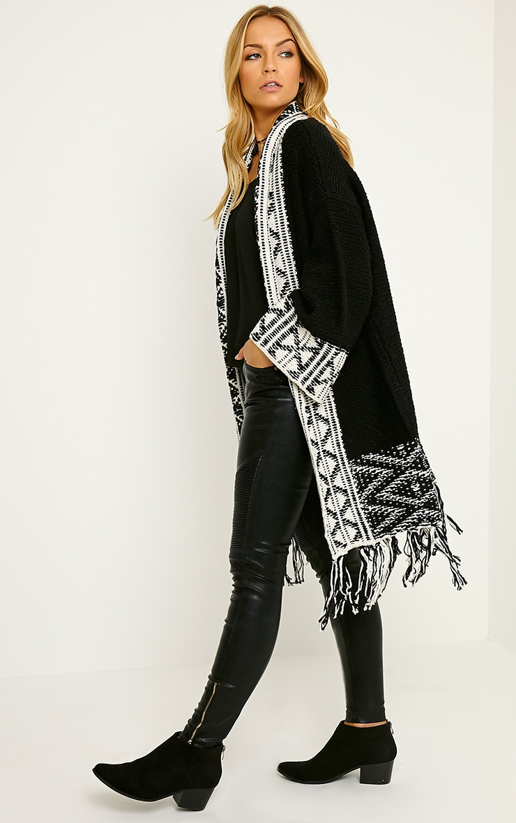 Eilysh Black Heavy Knit Cardigan 3