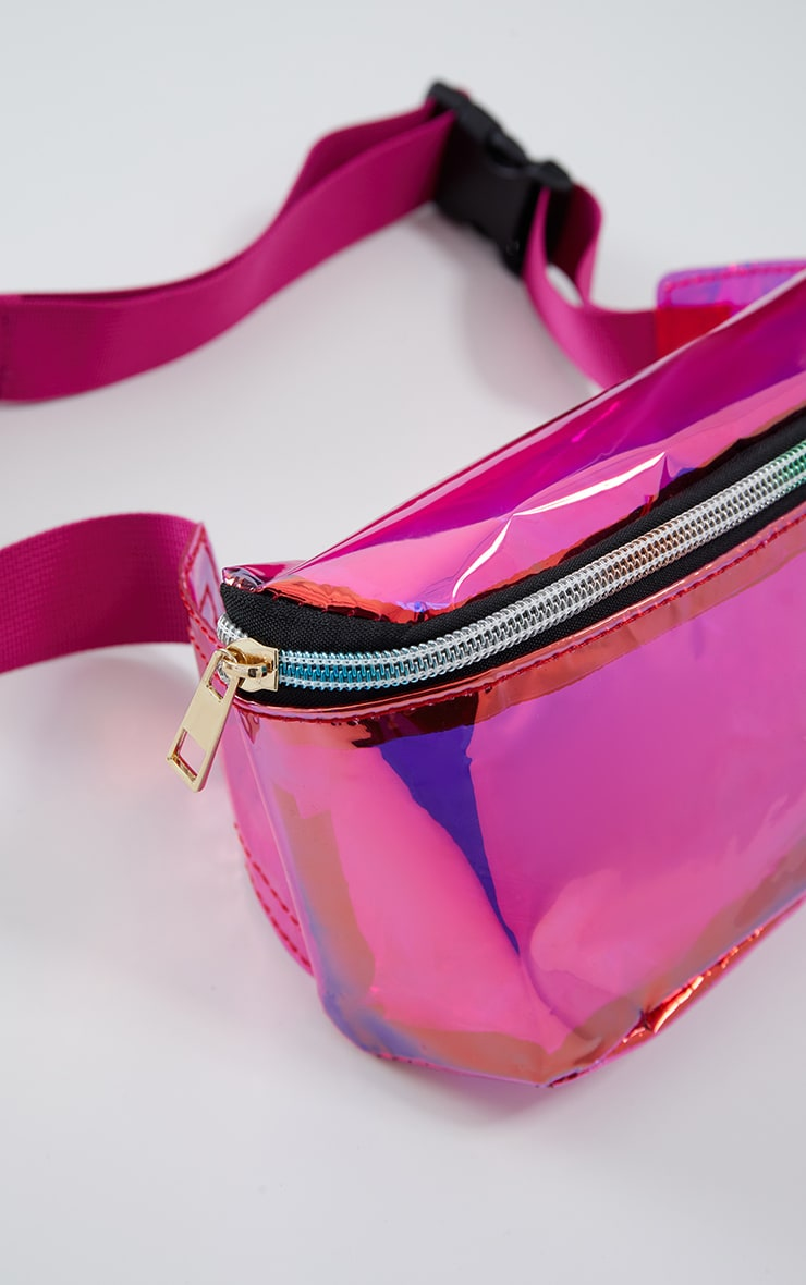 Pink Holographic Bum Bag 4