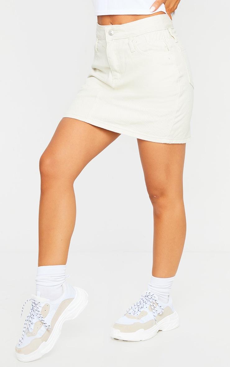 Ecru Ruched Waist Skirt 2