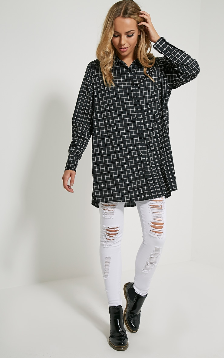 Flora Black Check Shirt 3