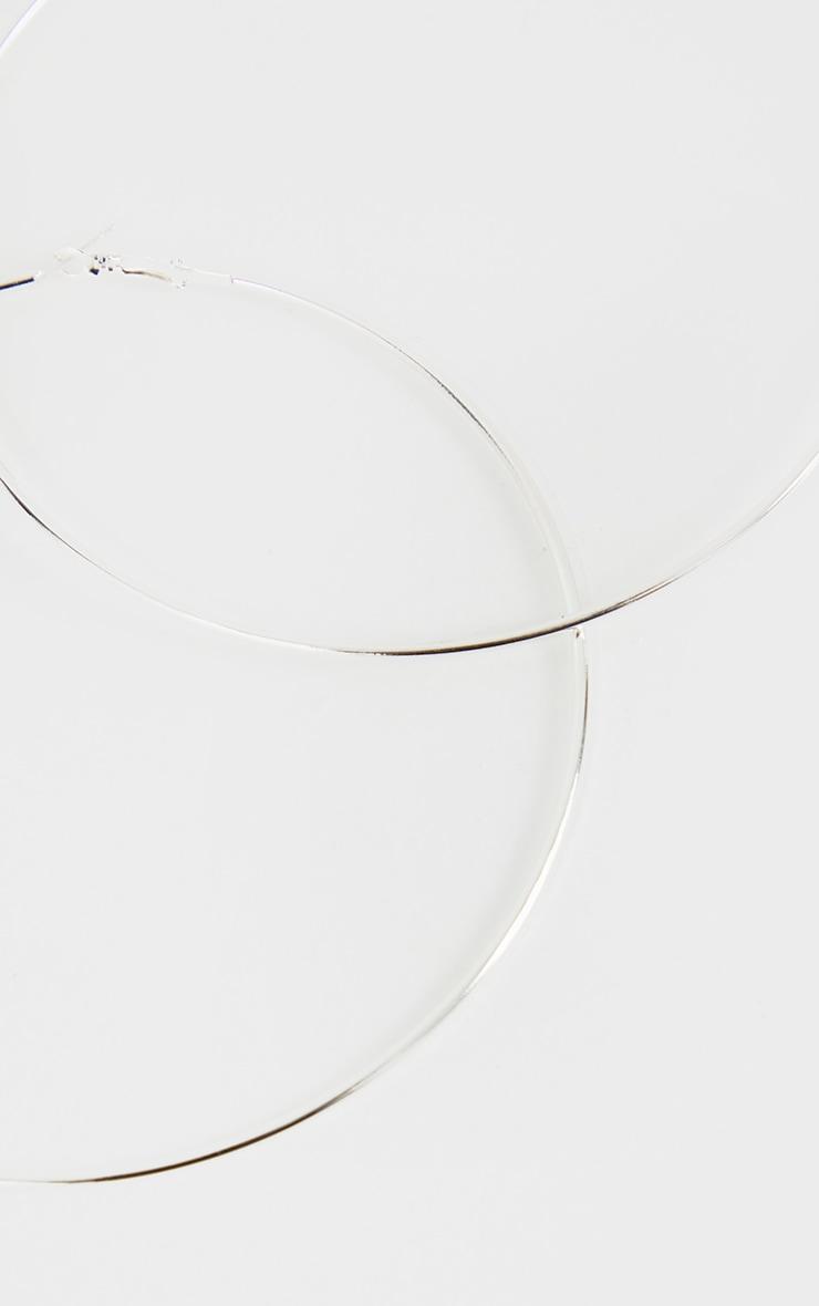 Silver 120mm Large Hoop Earrings 3