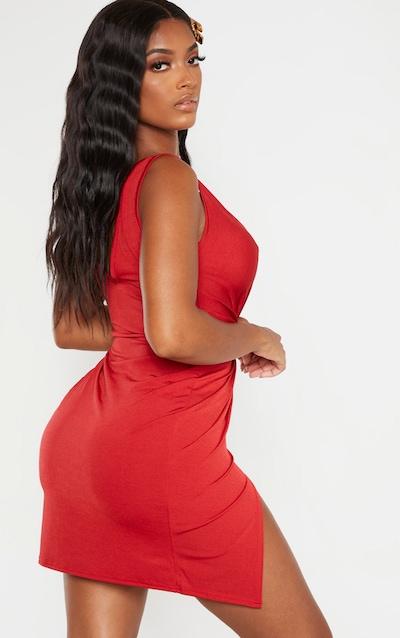 Shape Scarlet Slinky Wrap Detail Bodycon Dress