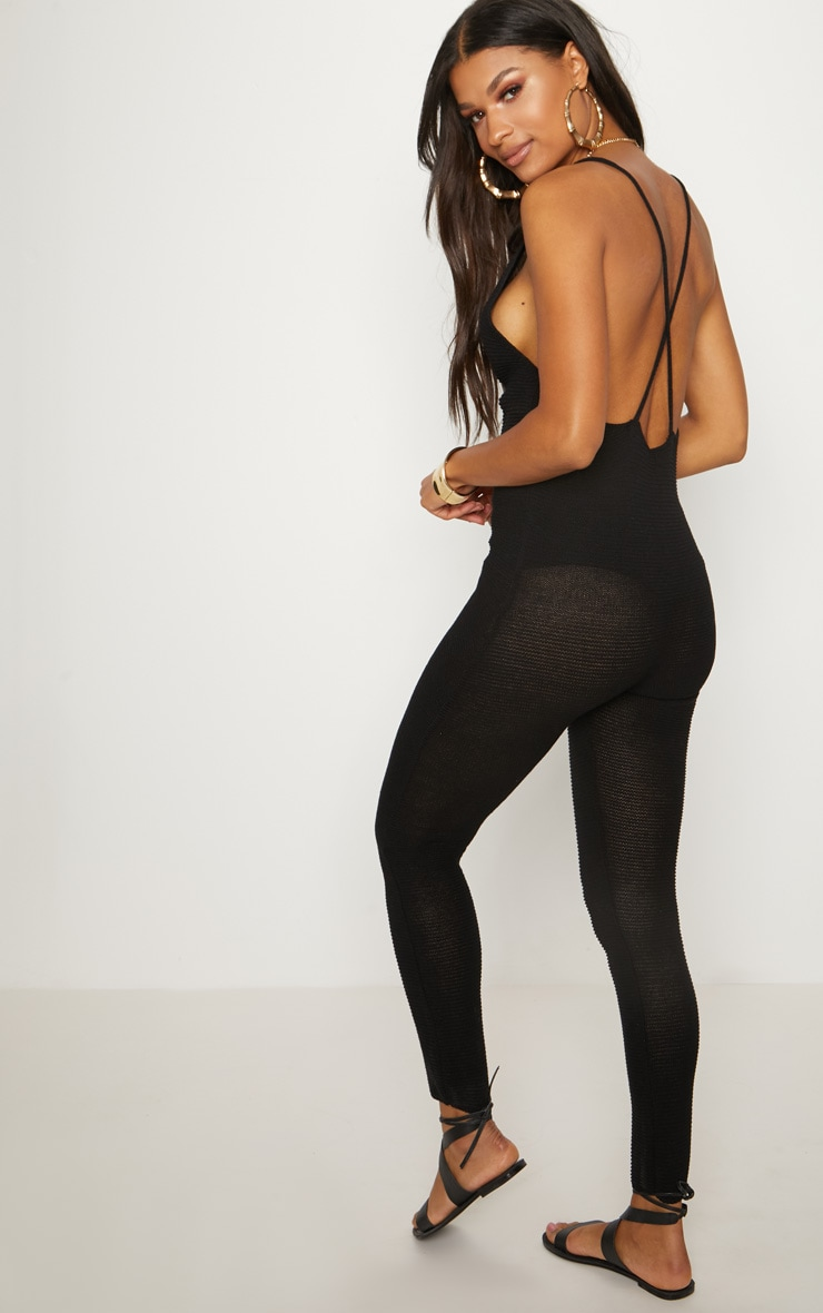 Black Knitted Jumpsuit 2