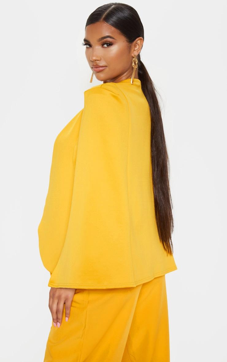Mustard  Cape Blazer 2