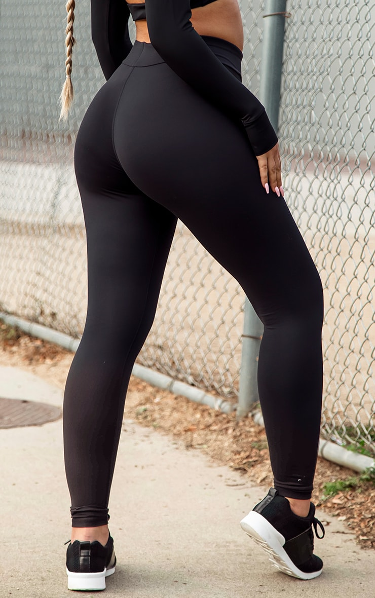 PRETTYLITTLETHING Black Sculpt Luxe Gym Leggings 4