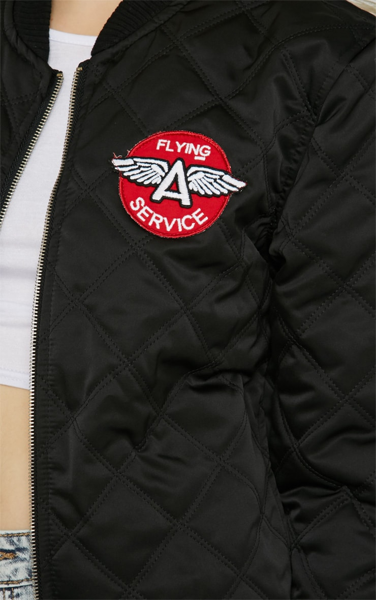 Carissa Black Quilted 'Flying Service' Jacket 4