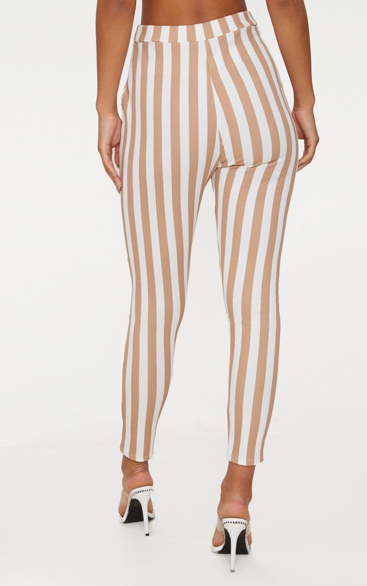 Stone Stripe Skinny Trouser 4