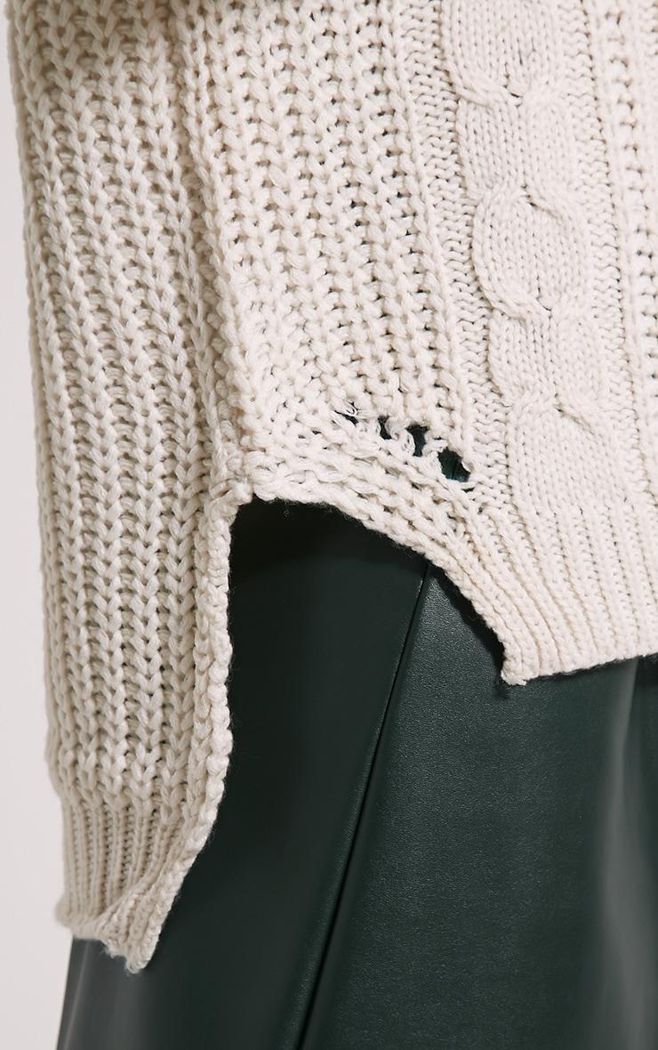 Jada Cream Knitted Jumper 5