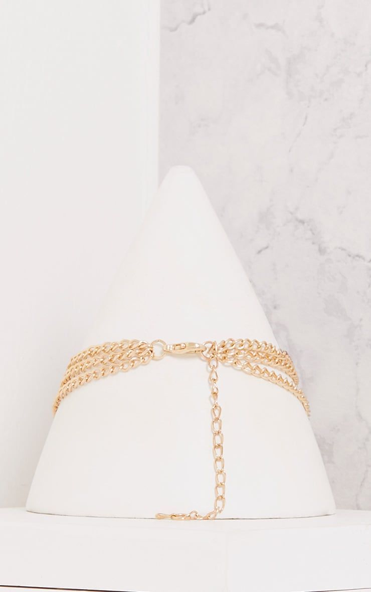 Calie Gold Chain Choker with Ring 3
