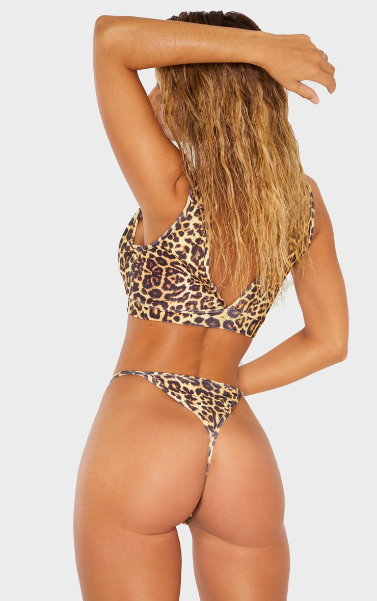 Leopard Mix & Match Plunge Bikini Top 2