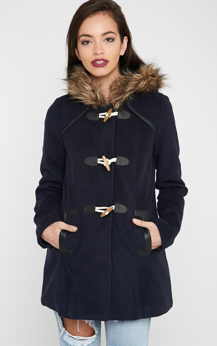 Lilly Navy Duffle Coat  4