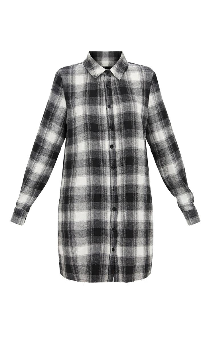 Black Checked  Shirt Dress 3