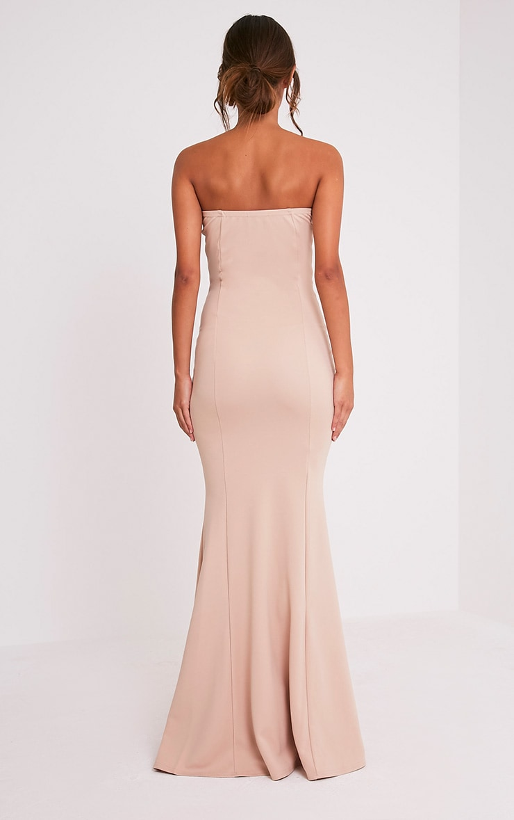Wendie Nude Sweetheart Fishtail Maxi Dress 2