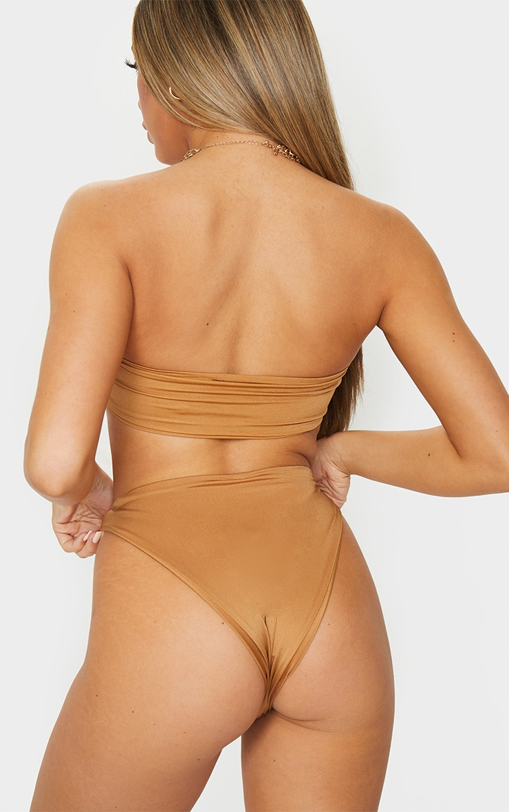 Mocha High Rise Bikini Bottoms 3