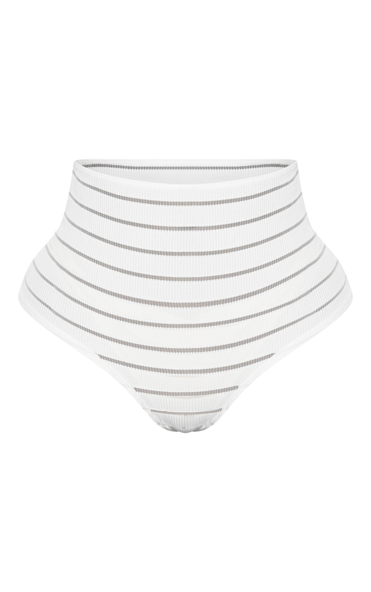 Shape White Burnout Mesh Panties 3