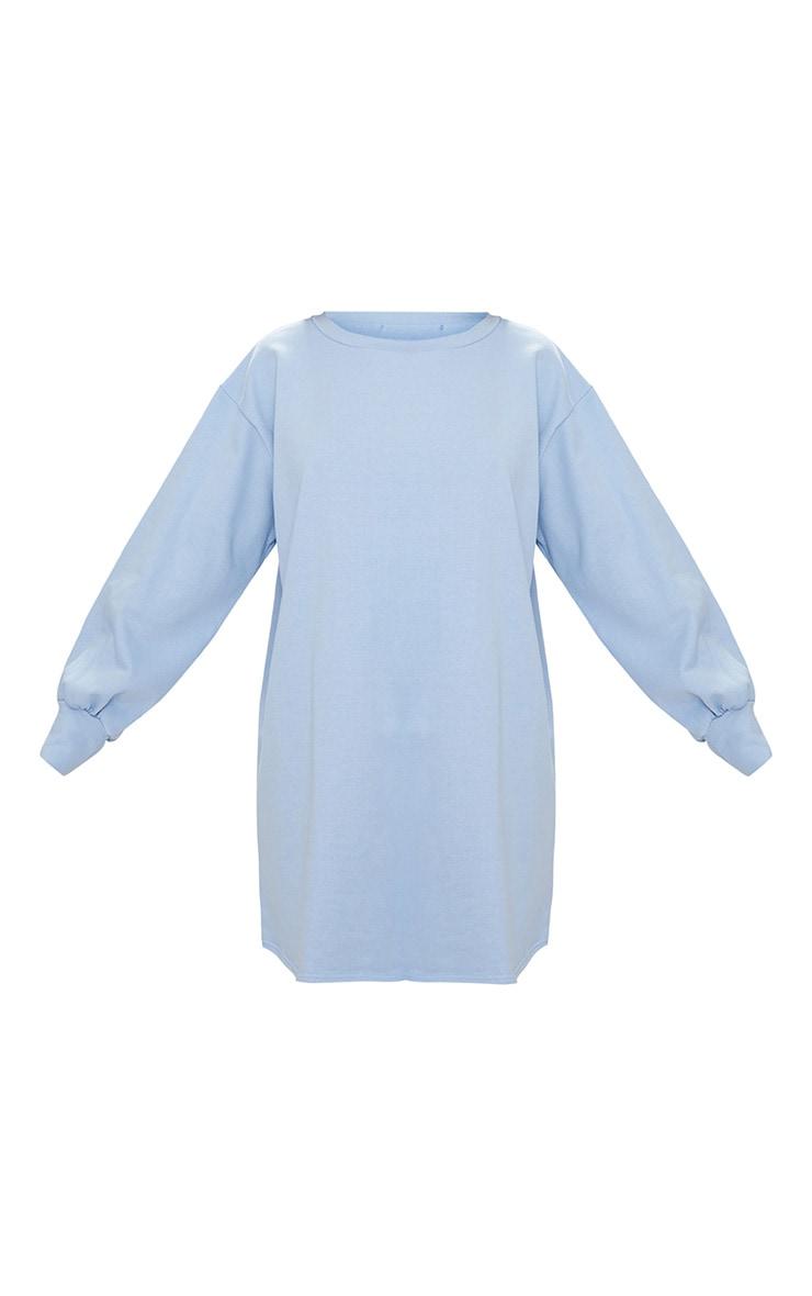 Powder Blue Oversized Sweater Dress 3