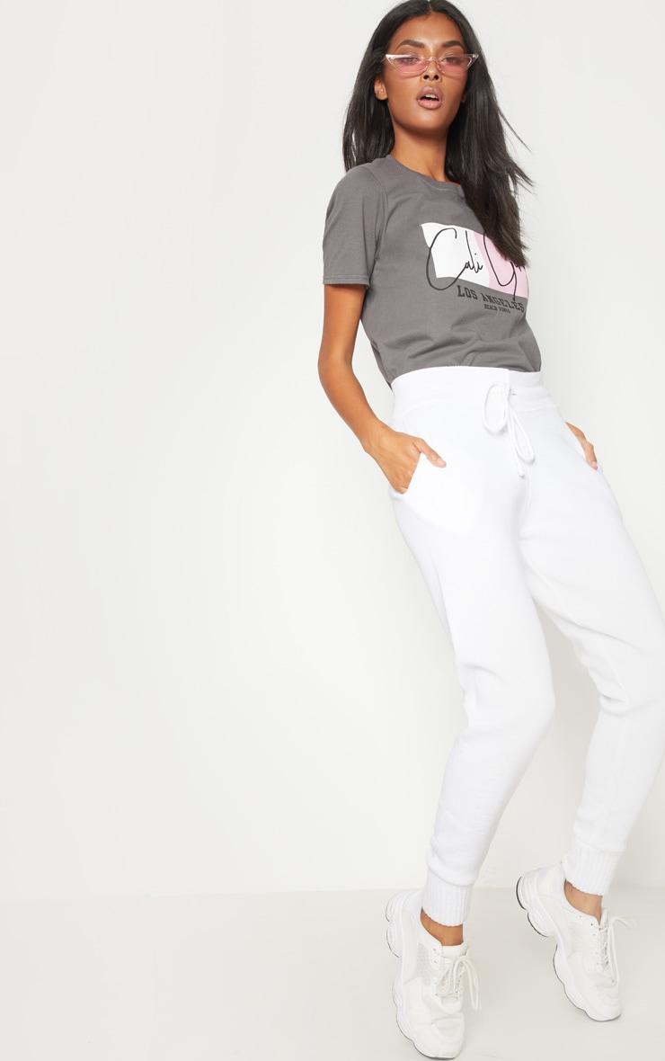 Grey Cali Girl Slogan Oversized T Shirt 4