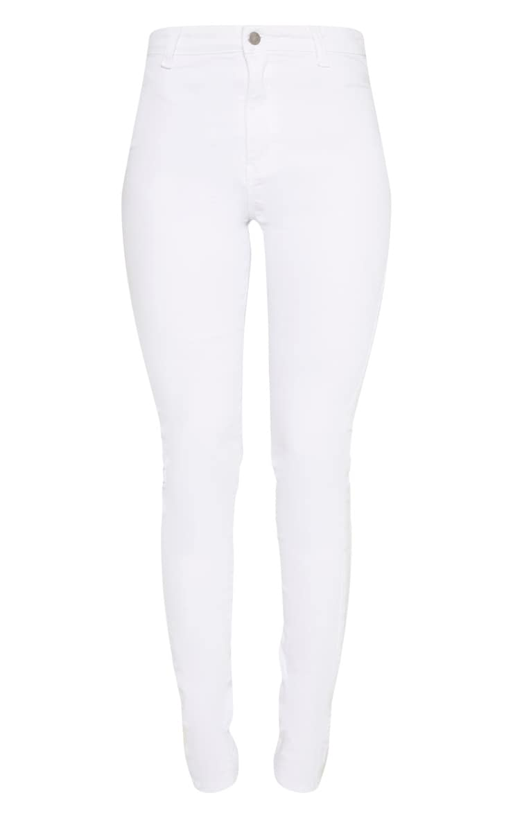 Tall White Super Stretch Skinny Jeans 3