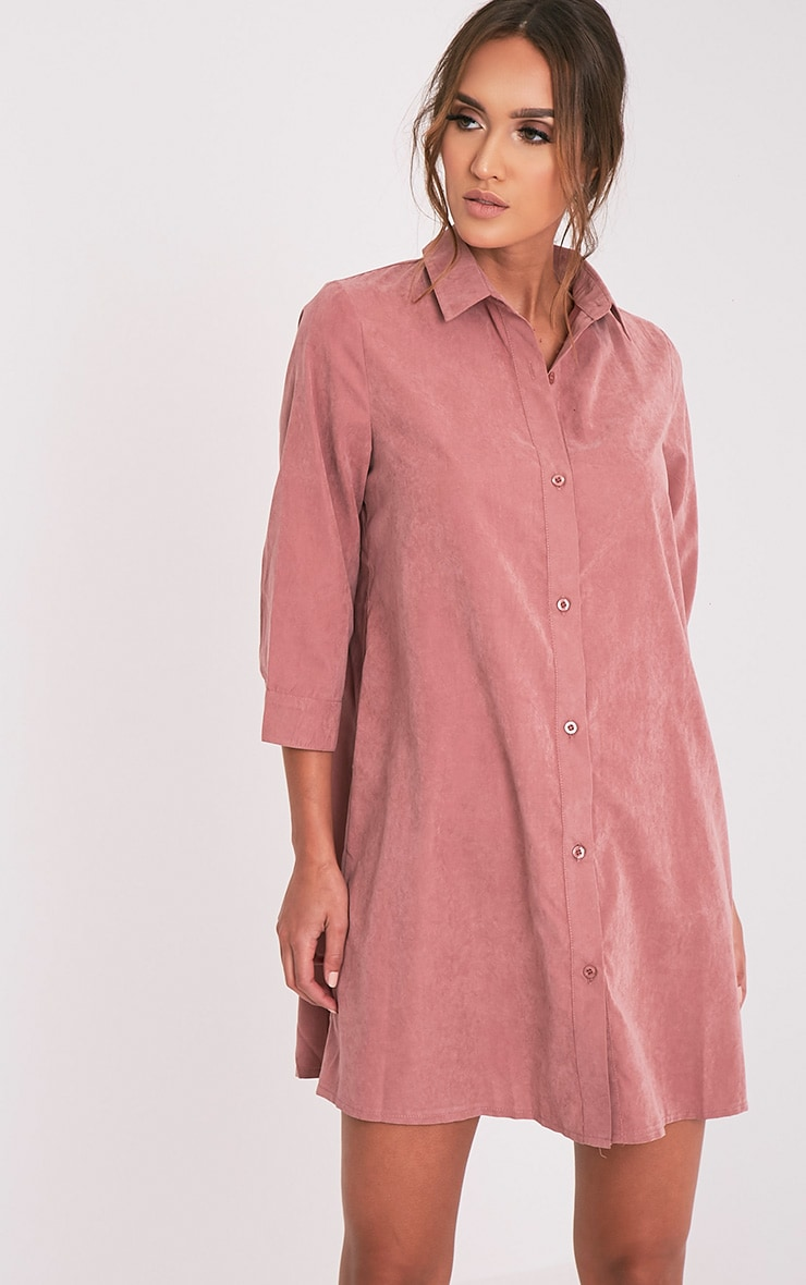 Leni Dusty Pink Shirt Dress 7