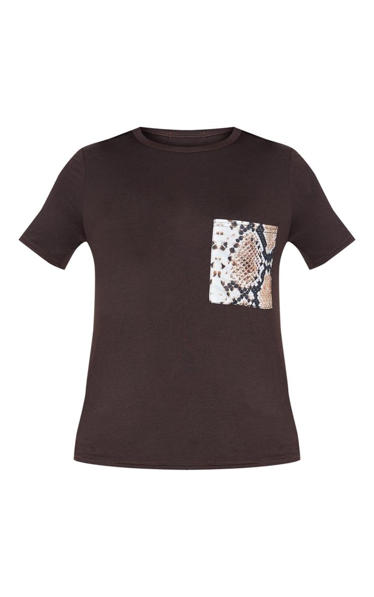 Chocolate Print Pocket T Shirt 3