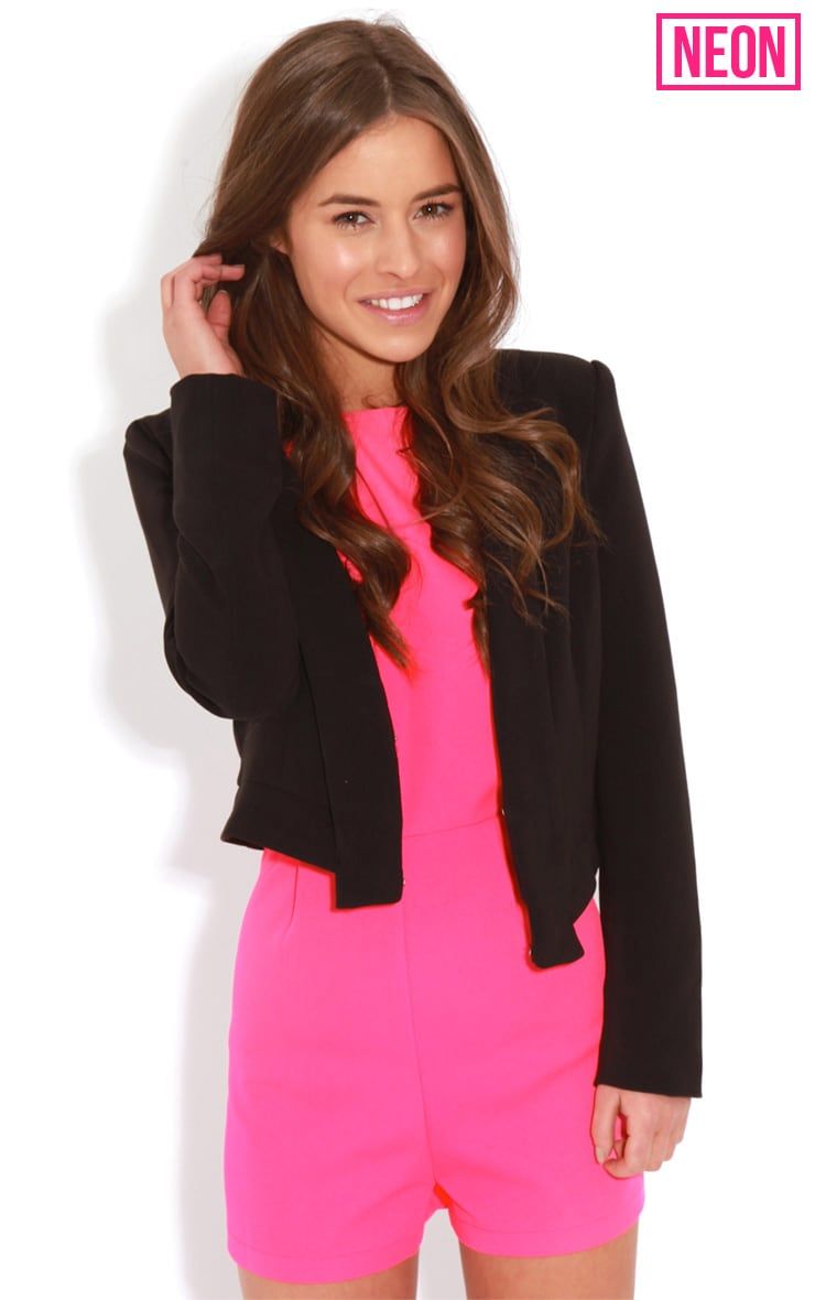 Diana Neon Pink Cross Over Playsuit 4