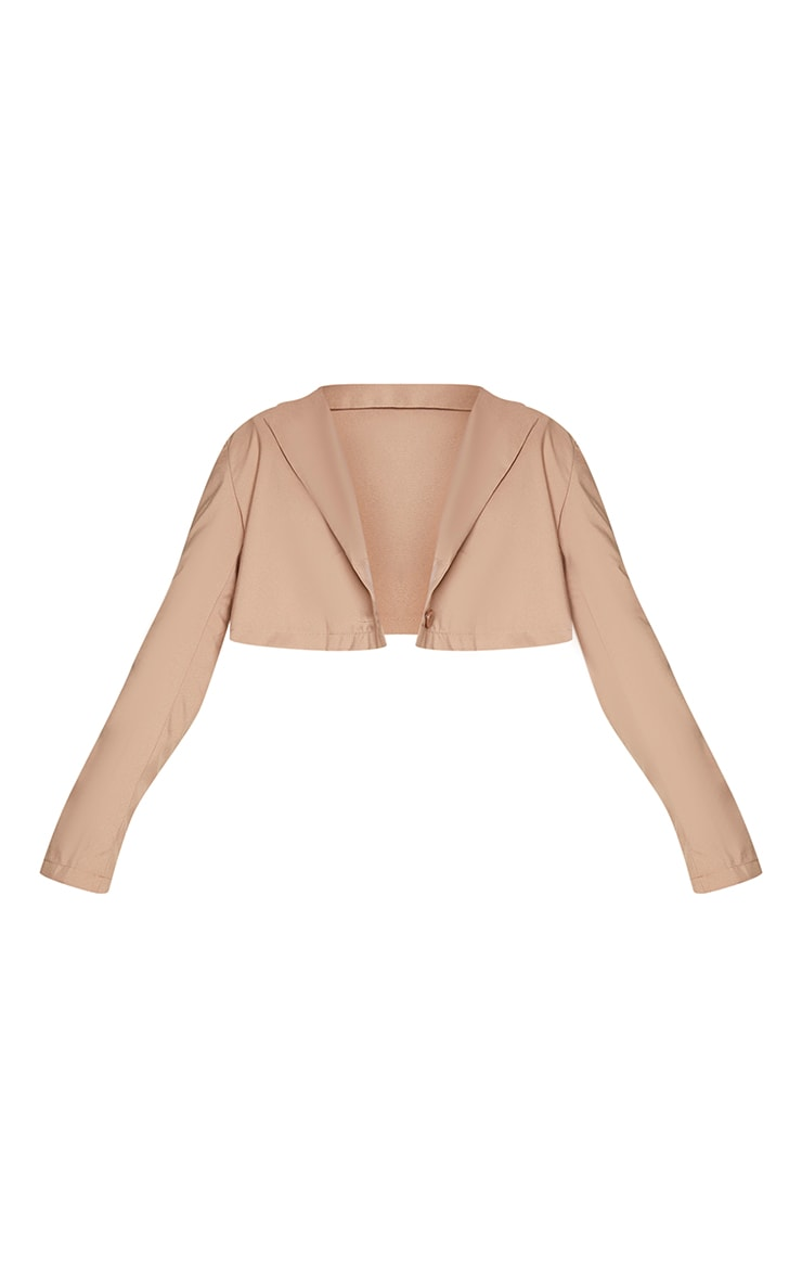 Sand Button Front Cropped Blazer 5